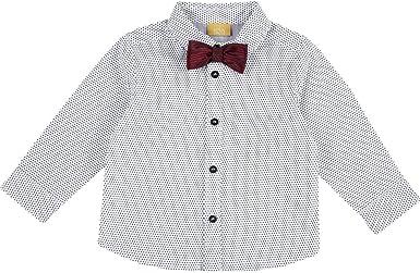 Chicco - Camisa de bebé de manga larga y pajarita extraíble ...