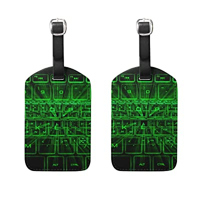 LEISISI The Glowing Keyboard Travel Luggage Tags Suitcase Luggage Bag Tags 2PCS