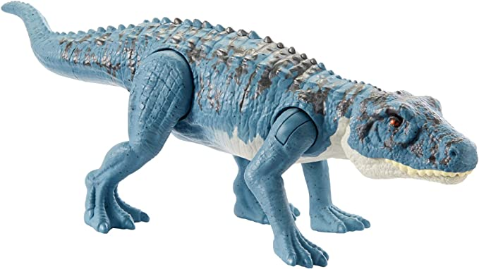 Amazon.com: Jurassic World Savage Strike Postosuchus Figure in Smaller Size with Unique Attack Moves Like Biting, Head Ramming, Wing Flapping, Articulation and More: Toys & Games