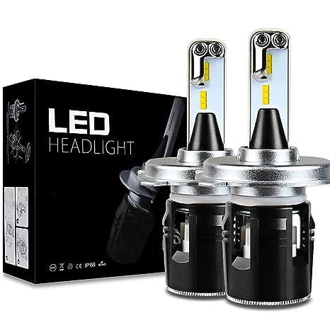 Auto Safety H4 LED faros de coche bombillas 42W 6000K 10400Lumens CSP Chips Kits de conversión