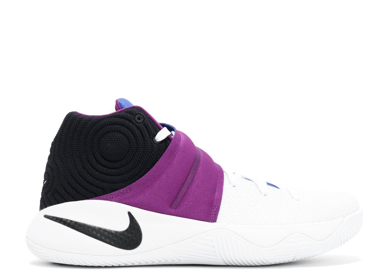 NIKE Boys Kyrie 2 (GS) Basketball Shoes (5Y, White/Black-Bold Berry-Lyon Blue)