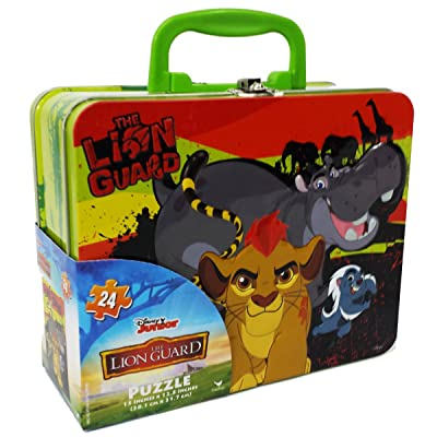 Cardinal 24 pc Disney's The Lion Guard Puzzle in Collectable Tin: Toys & Games