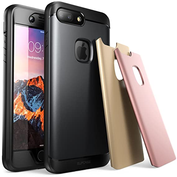 buy online 3e372 0c32e iPhone 7 Plus Case, iPhone 8 Plus Case, SUPCASE Water Resistant Full-body  Rugged Case with Built-in Screen Protector with 3 Interchangeable Covers  for ...