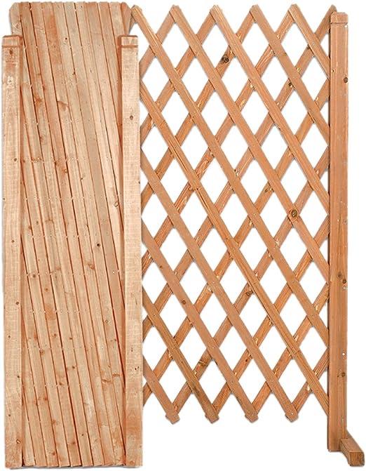 EV Panel Extensible de Madera de jardín balcón a Red mis. Abierto 120 x 150 cm: Amazon.es: Jardín