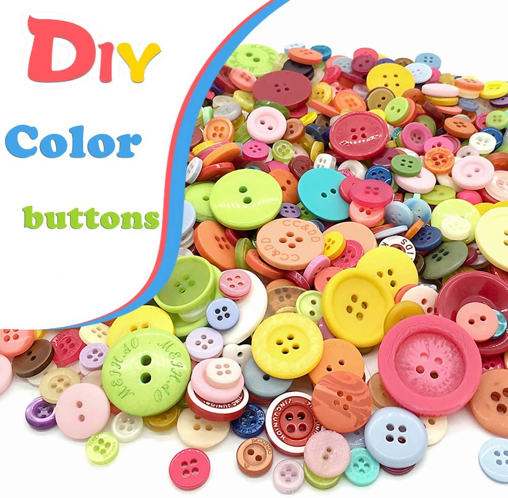 LOKIPA 100 Animal Wooden Buttons Craft Sewing Buttons for DIY Sewing Crafting Scrapbooking