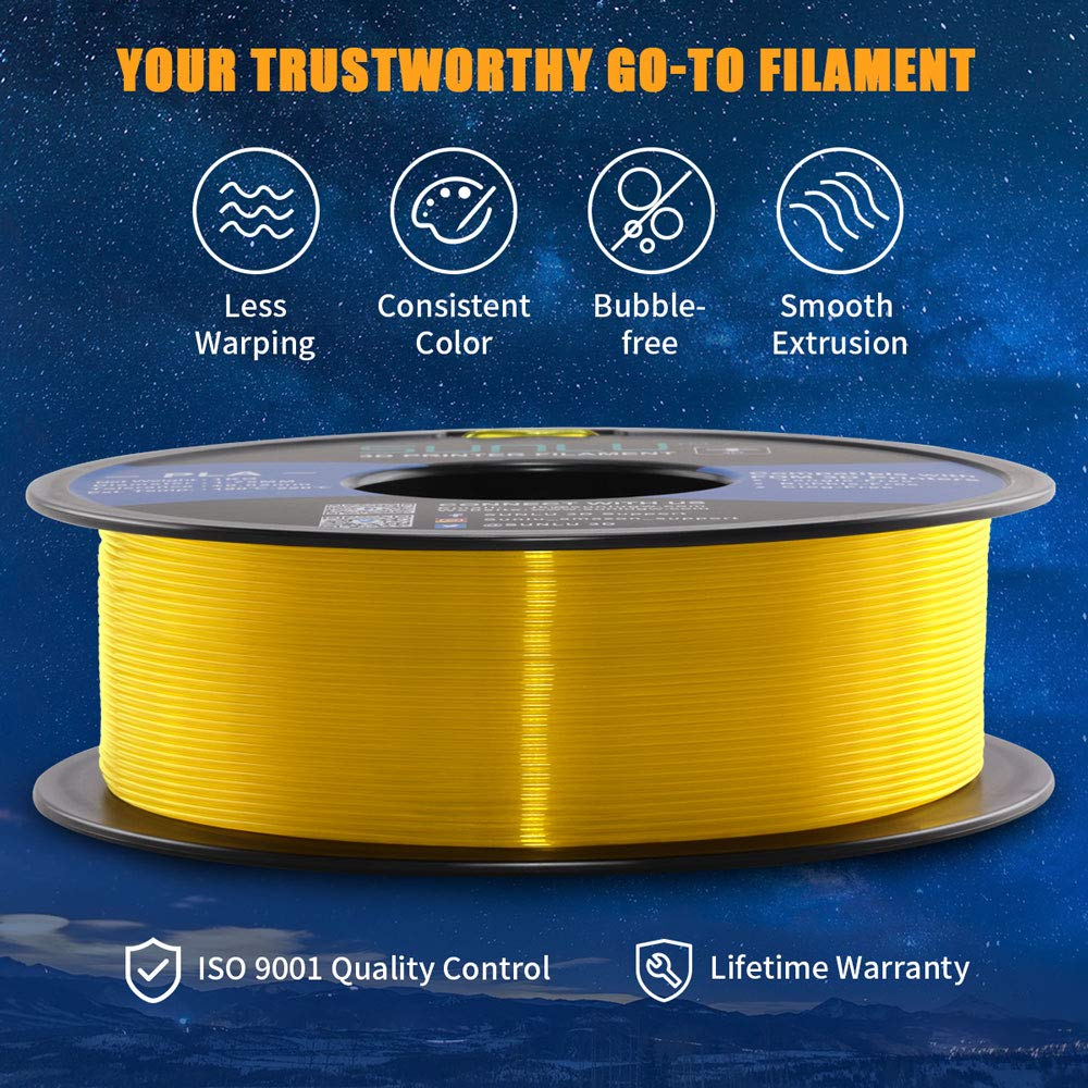 1kg Spool 3D Printing Filament Dimensional Accuracy +//- 0.02 mm for 3D Printer and 3D Pen SUNLU Transparent PLA Filament 1.75 mm 3D Printer Filament Pure Transparent