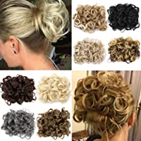 Short Curly Dish Hair Bun Extension Easy Stretch hair Combs Clip in Ponytail Extension Scrunchie Chignon Tray Ponytail Hairpieces