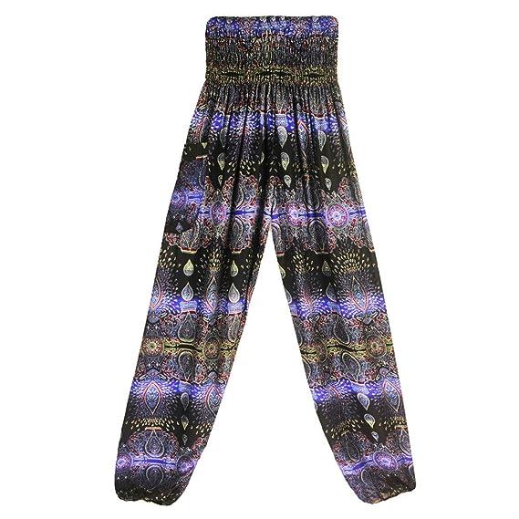 Yoga Mujer Deportivas Pantalones Trousers Boho Festival ...