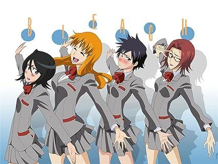 Posterhouzz Anime Bleach Rukia Kuchiki Orihime Inoue Tatsuki Arisawa