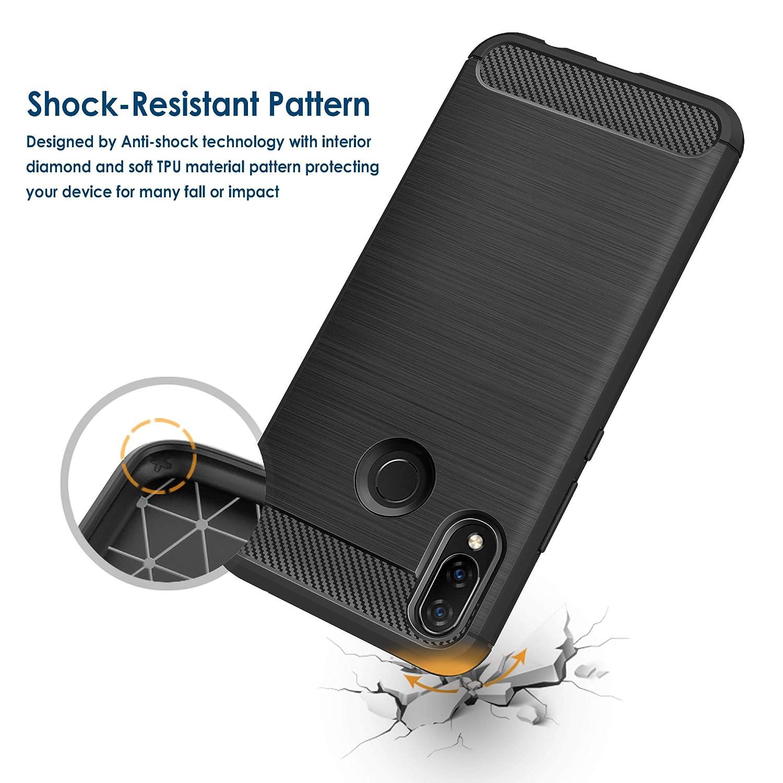 Coque-Etui-Housse-Silicone-brossee-Fibre-de-carbone-Noir-Protection-Huawei miniature 51