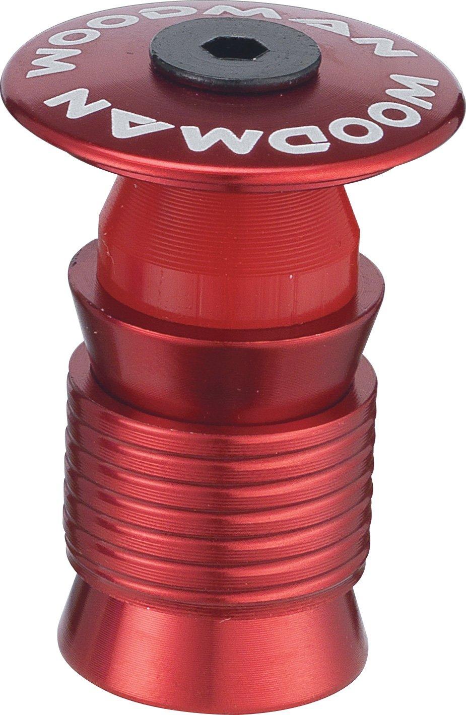 Woodman Capsule PH 1.1/8' Reuseable Ahead Plug: Aqua Red Alloy Top Cap