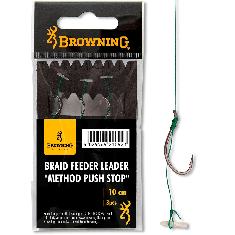Browning Braid Feeder Leader Method Push Stop Gr.4 0,14mm 10cm