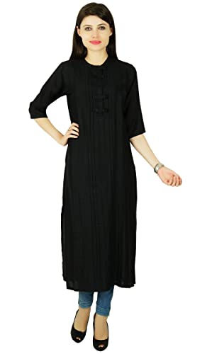 Phagun ocasional Kurti Mujeres Rayón Diseñador étnico sólido Bollywood vestido de la túnica