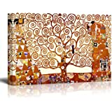 Canvas Wall Art Stretched Canvas Print - Famous Art Reproduction Tree of Life by Gustav Klimt | Giclee Printing Ready to…