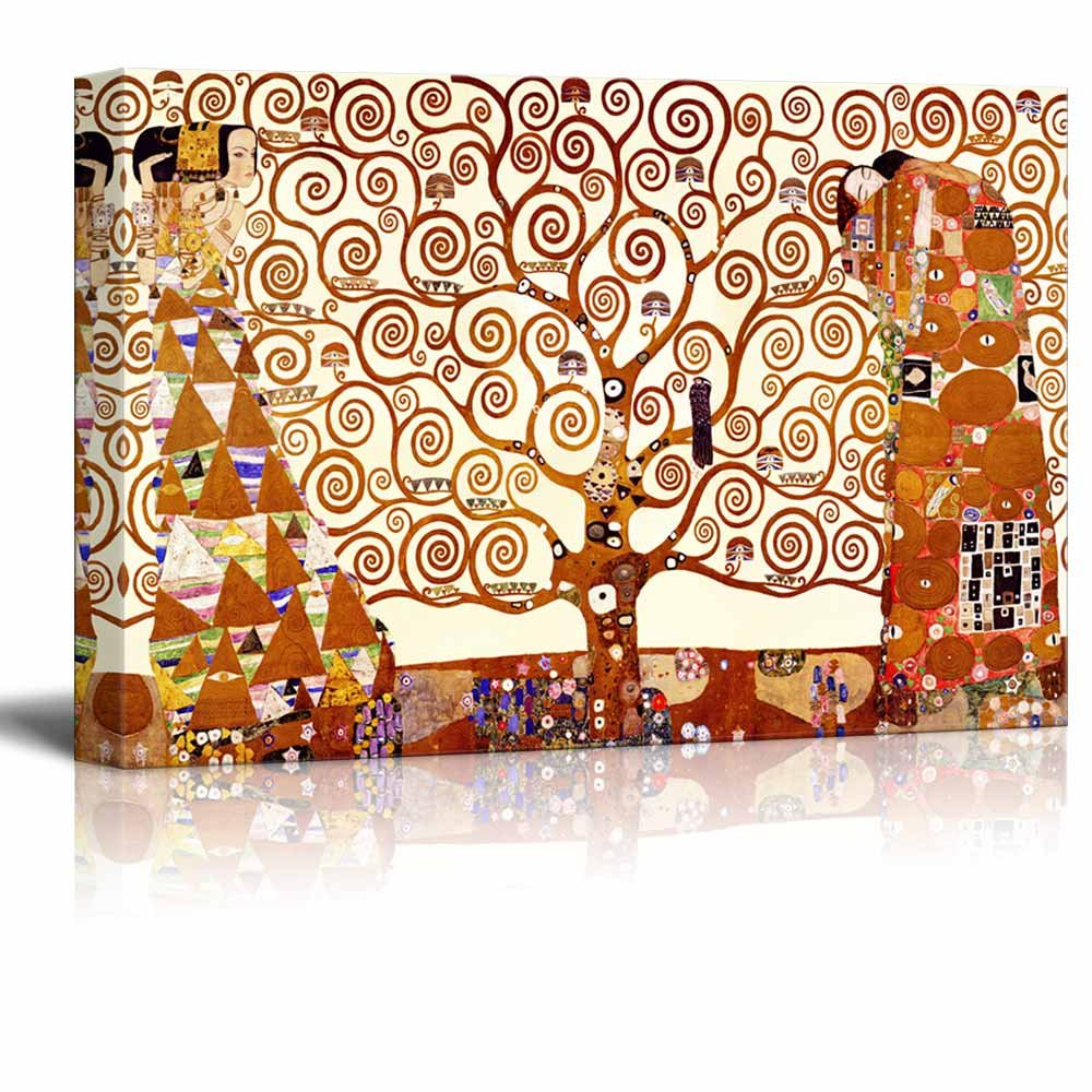 Stretched Print Famous Art Reproduction Tree Of Life By Gustav Klimt Ing