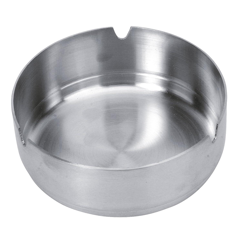 Equinox 502711cenicero de acero inoxidable, plateado, 9,80x 9,80x 3,5cm