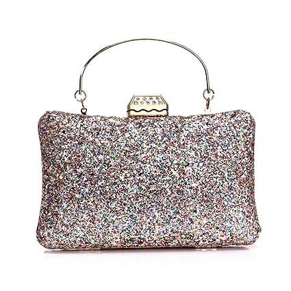 ColorYan Mujer Clutch Espumoso Bolso de Embrague Bolso de Noche Elegante Brillo Bolsos de Noche Bling