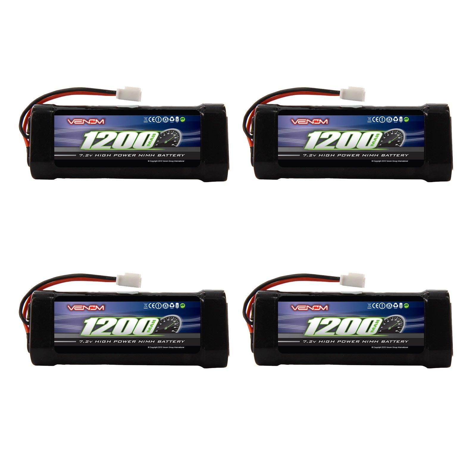 Venom 7.2v 1200mAh 6-Cell 2/3A NiMH Battery with Micro Molex Plug x4 Packs by Venom