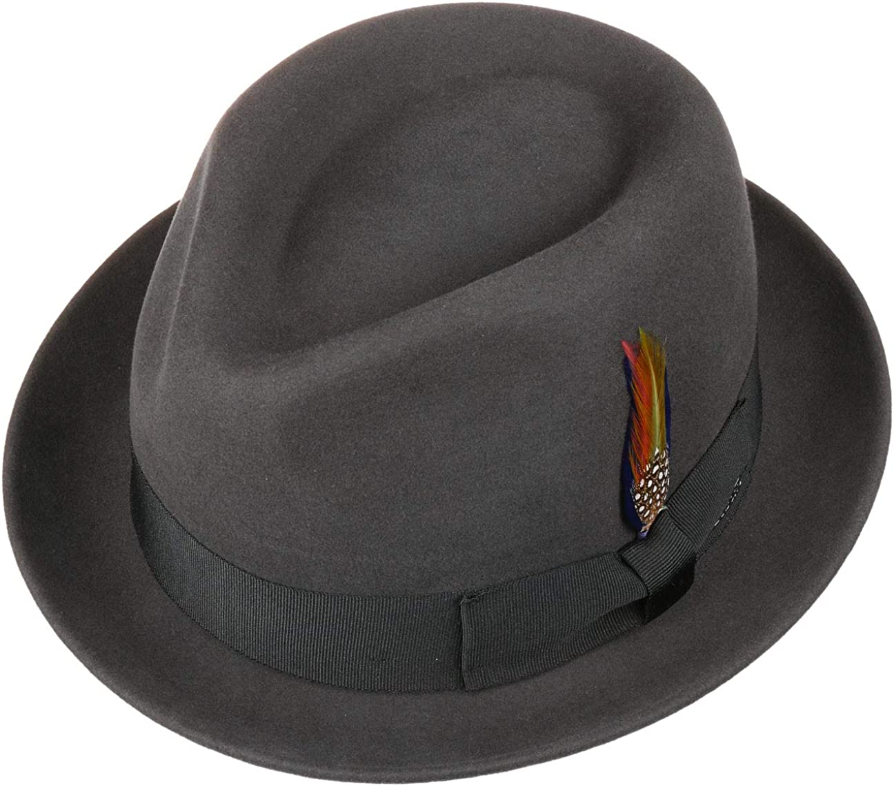 Felt Fedora Musician/´s with Grosgrain Band Autumn-Winter Stetson Wool /& Cashmere Player Hat Men