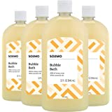 Amazon Brand - Solimo Milk and Honey Bubble Bath, 32 Fluid Ounce (Pack of 4)