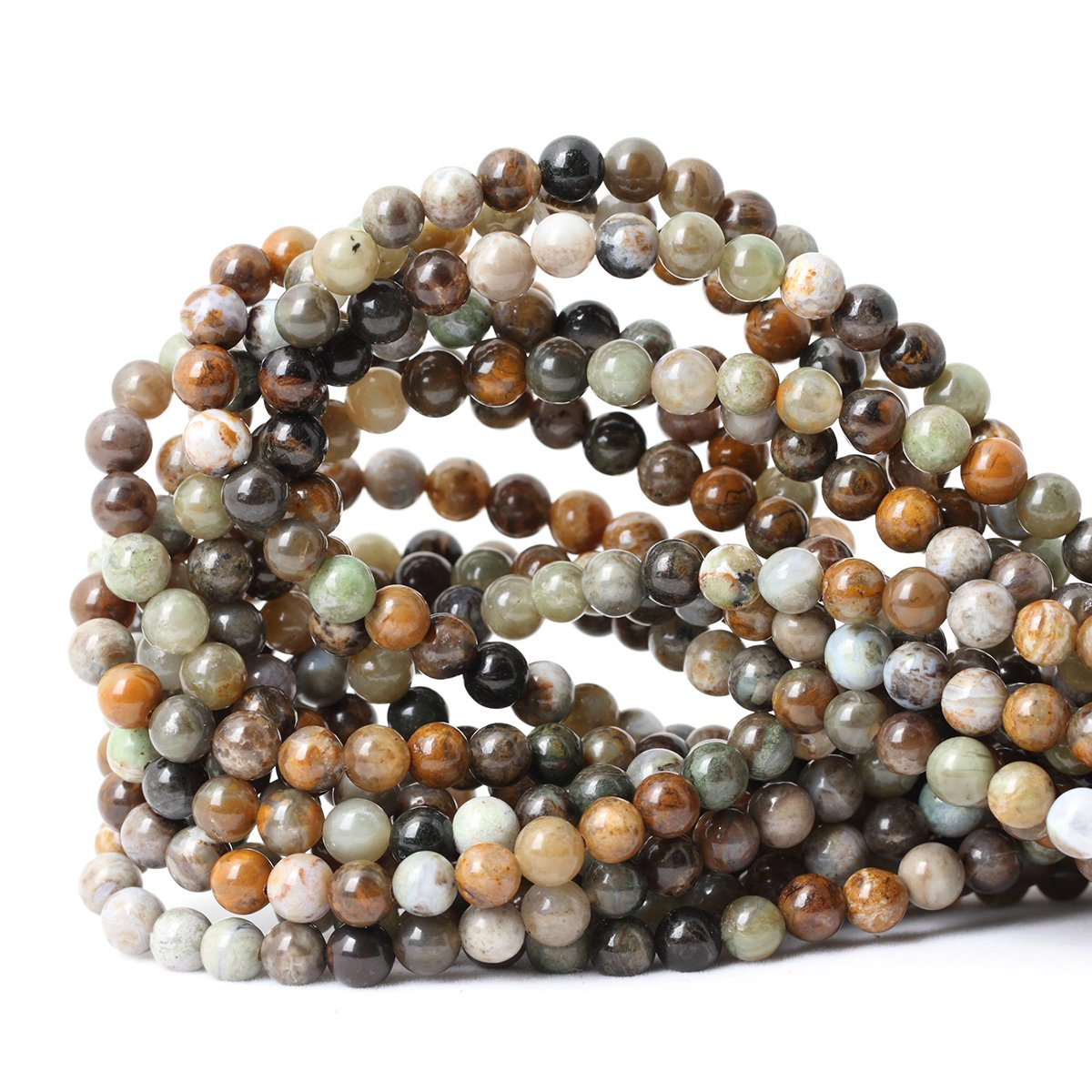 Ocean Jade 6mm Qiwan 35PCS 10mm Natural African Turquoise Stone Round Loose Beads for Jewelry Making DIY Bracelet Making Supplies 1 Strand 15