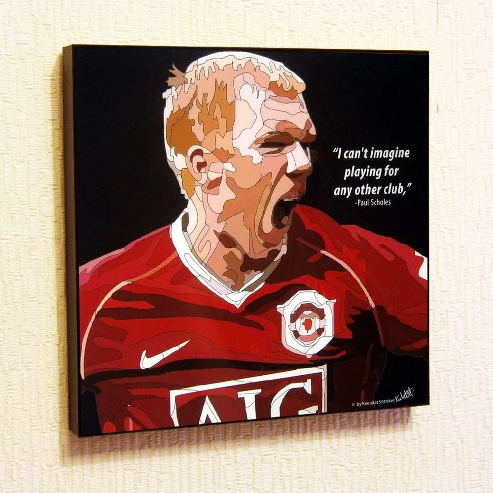 Amazon Com Paul Scholes Manchester United Fc Football Soccer Poster Pop Art Canvas Quotes Wall Decals Framed Posters Prints