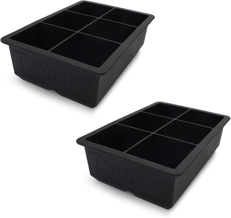 Tovolo King Cube Ice Tray, Black, Set of 2