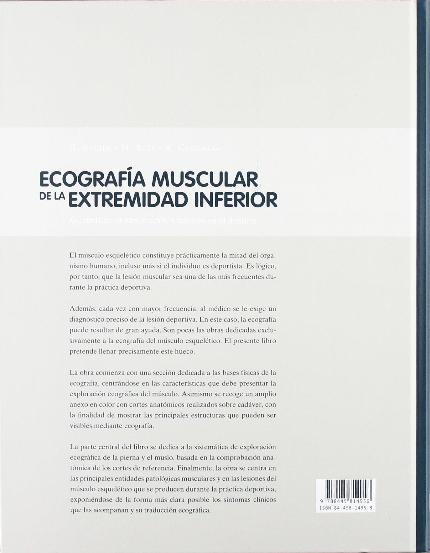 Ecografía muscular de la extremidad inferior: Amazon.es: R. Balius ...