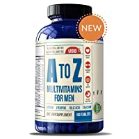 A to Z Multivitamin and Multimineral Supplment for Men - Vitamins A C D E K B1 B2...