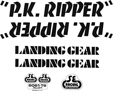 LANDING GEAR bmx fork stickers 1 set per buy it now NOS ORIGINALS pk ripper S.E