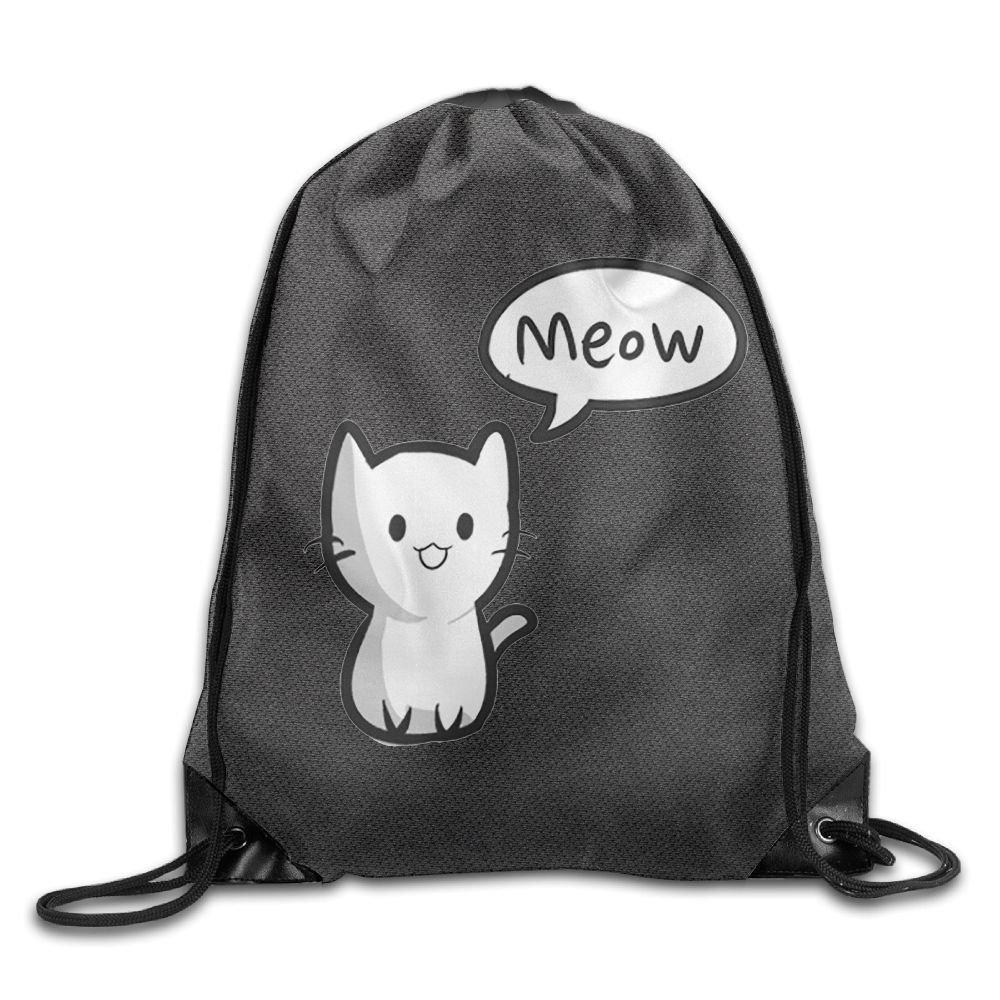 高度なカスタマイズDrawstring Sackpack Doctor Cat Drawstring Sling防水バックパック軽量バックパック B079NB8D39
