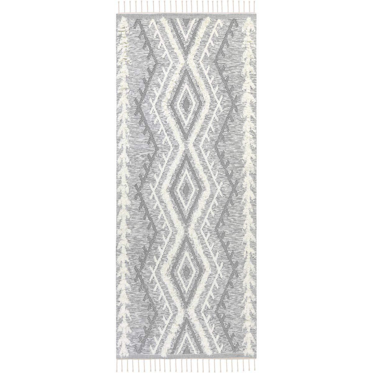 We Rugs Beautiful Area Rugs for Living Room Decor, Modern Geometric Handmade Area Rug,Light Grey 2 8 x 8