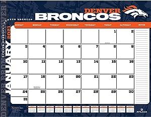TURNER Sports Denver Broncos 2021 22X17 Desk Calendar (21998061535)