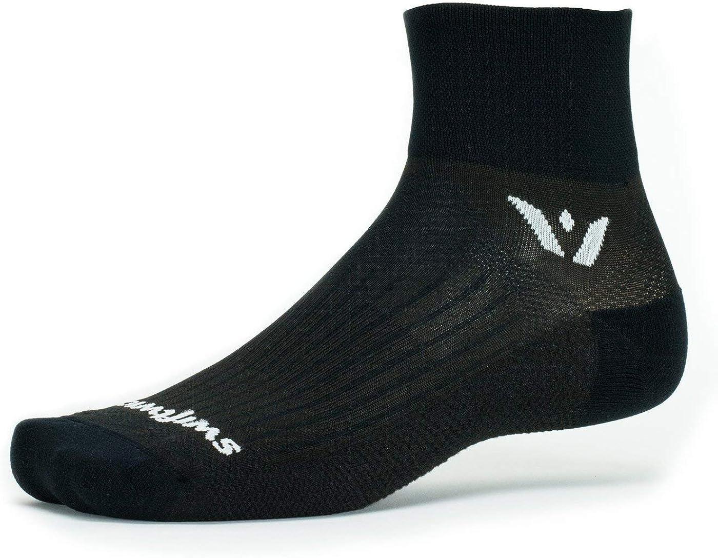 Swiftwick- PERFORMANCE TWO Running & Cycling Socks, Fast Dry, Cushion Crew Socks
