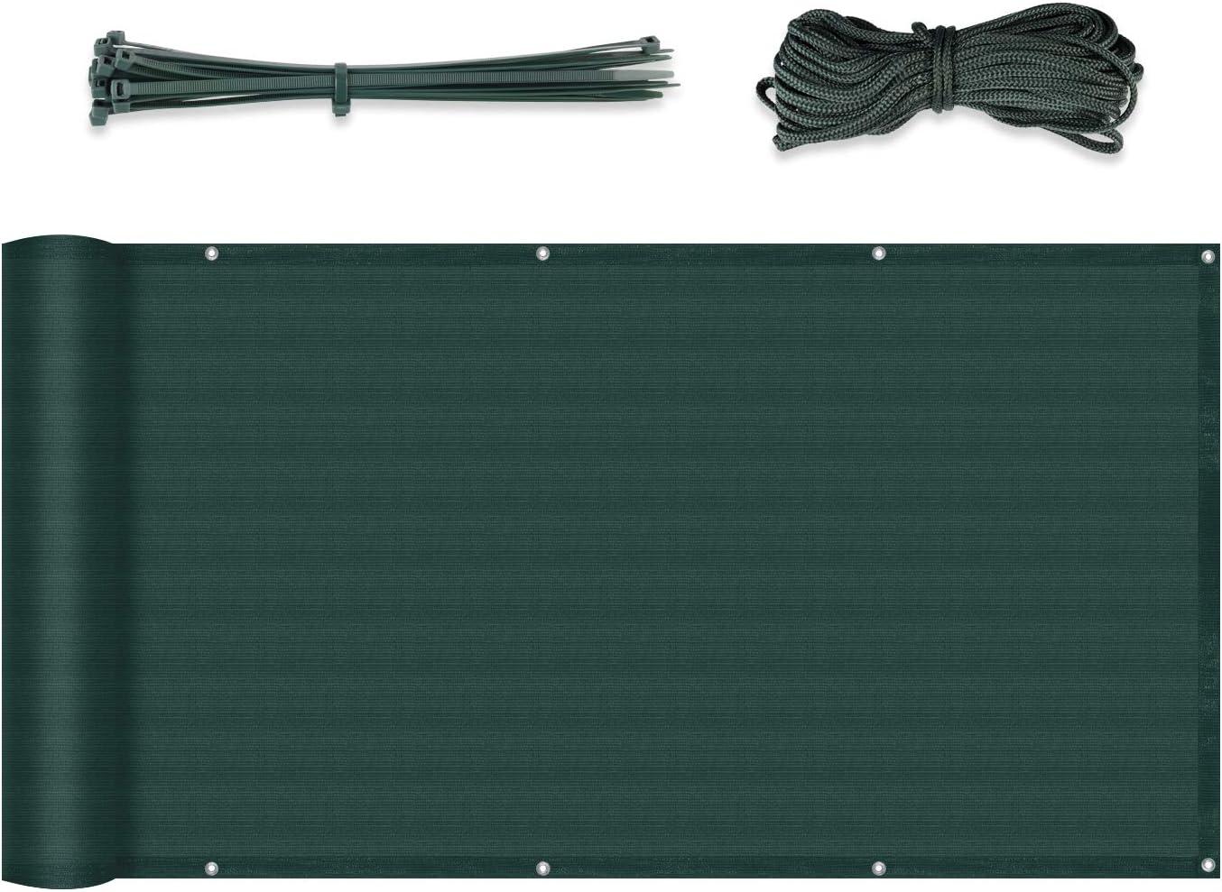 Sekey Recinzione Copertura PE-Rattan per Balcone Protezione della Privacy Schermo Permeabile per Estate ed Inverno 90 x 300cm con Fascette