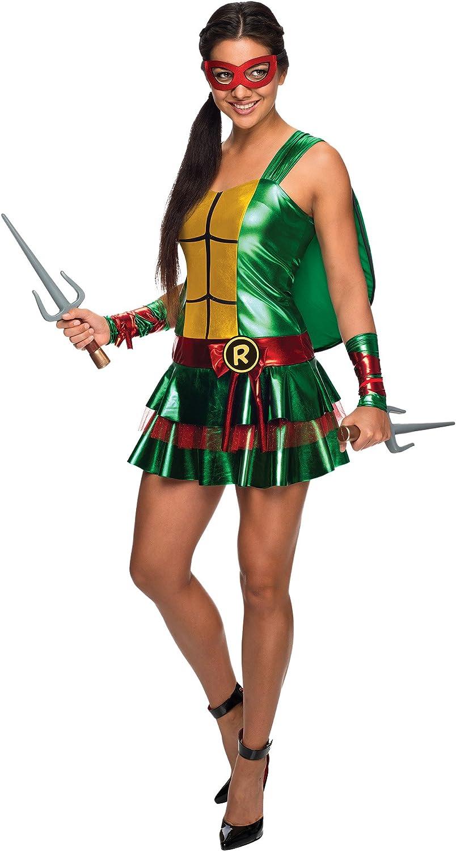 Secret Wishes Womens Teenage Mutant Ninja Turtles Raphael Costume Dress, Large
