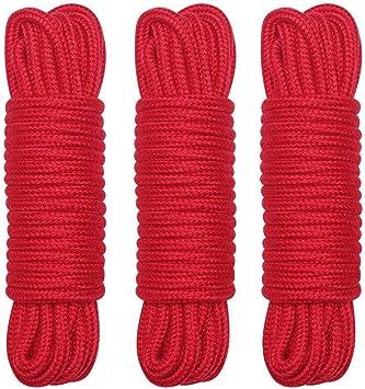 Cuerda de algodón, 3 unidades, 32 pies, 10 m, cuerda suave ...