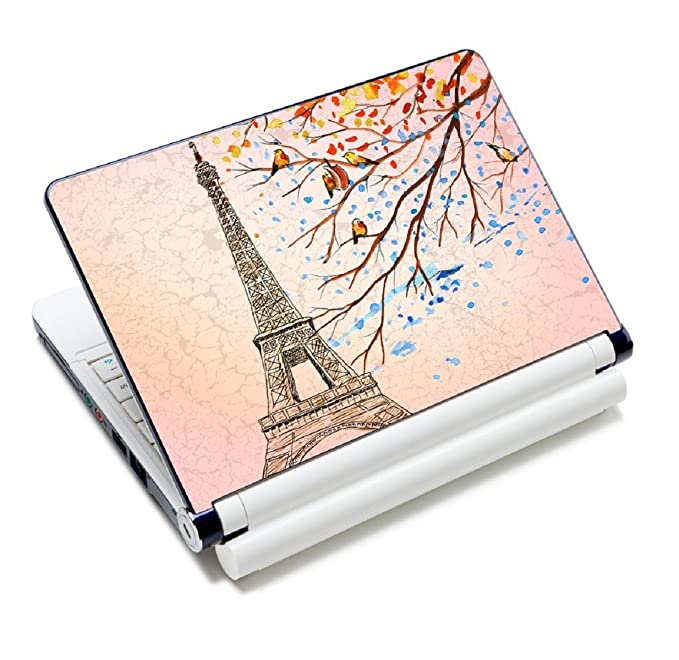 """ICOLOR Laptop Skin Sticker Decal,12"""" 13"""" 13.3"""" 14"""" 15"""" 15.4"""" 15.6 inch Laptop Skin Sticker Cover Art Decal Protector Notebook PC (Eiffel Tower) best decorative laptop sticker"""