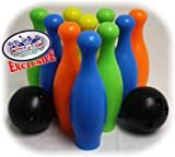Matty's Toy Stop 10 Pin Multi-Color Deluxe