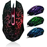 Fortan Professional Colorful Backlight 4000DPI Optical Wired Gaming Mouse Mice