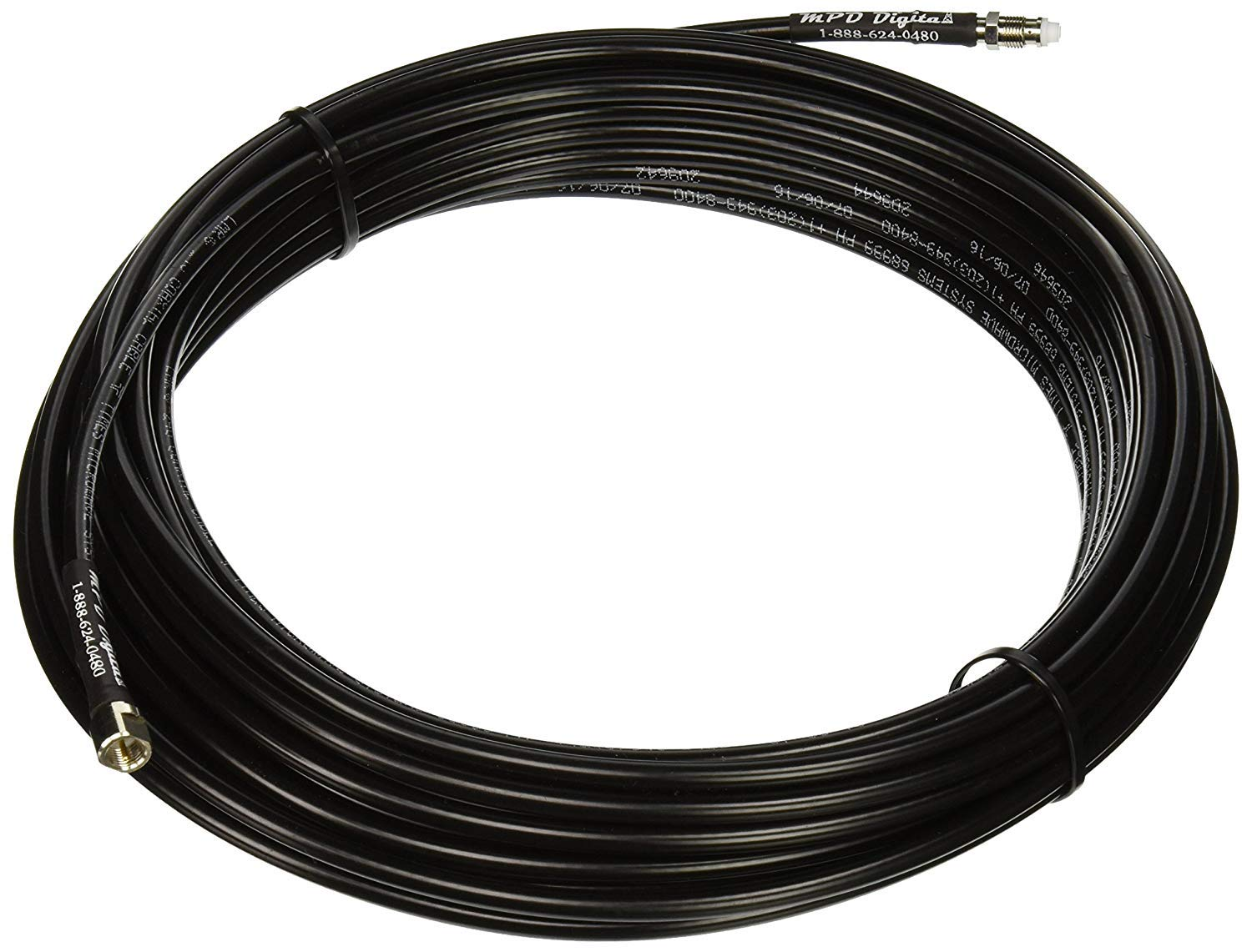 MPD Digital LMR240-cell-phone-extension-50 Cellular Antenna Extension Cable for Cell Phone Antennas FMA Male to FME Female LMR-240 - with Polyolefin Cross-Linked Strain Relief by MPD Digital