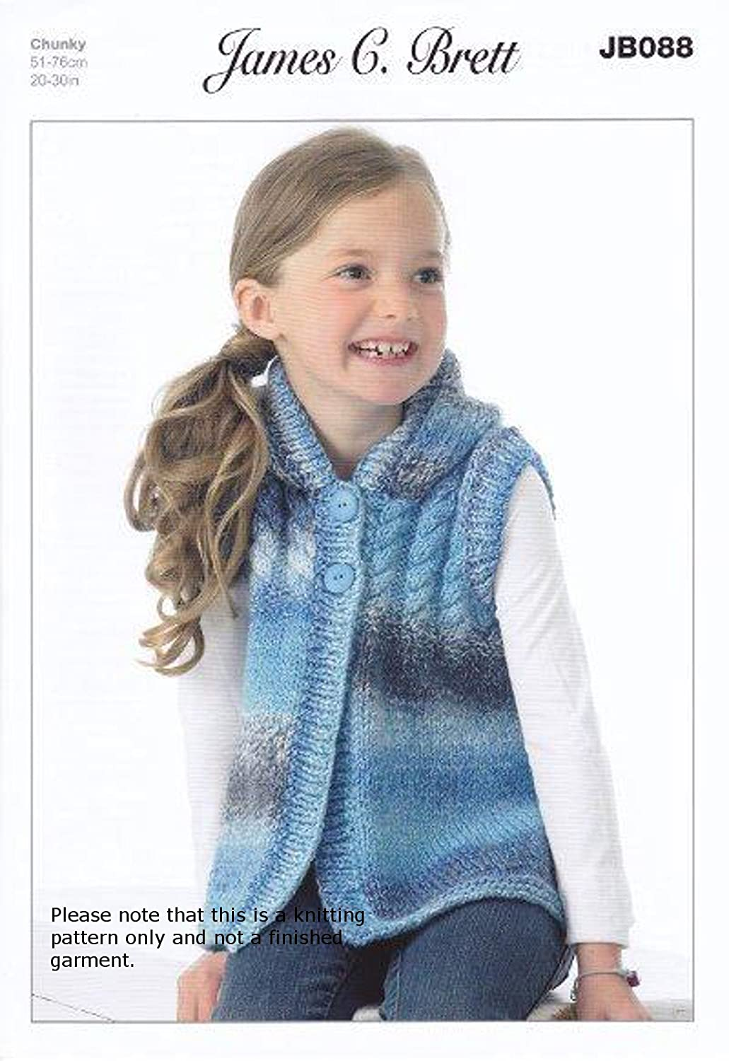 2a8bc4df6 James Brett Chunky Knitting Pattern - JB088 Children s Hooded Top  Baby  Product   Amazon.co.uk  Kitchen   Home