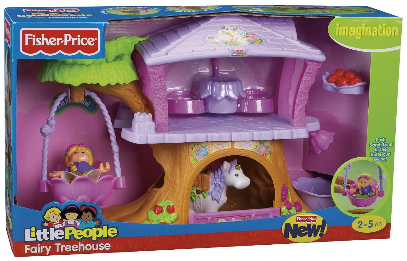 Charming Little People Fairy Treehouse Part - 11: Amazon Com Fisher Price Little People Fairy Treehouse Toys Games On Fairy  Treehouse Playset