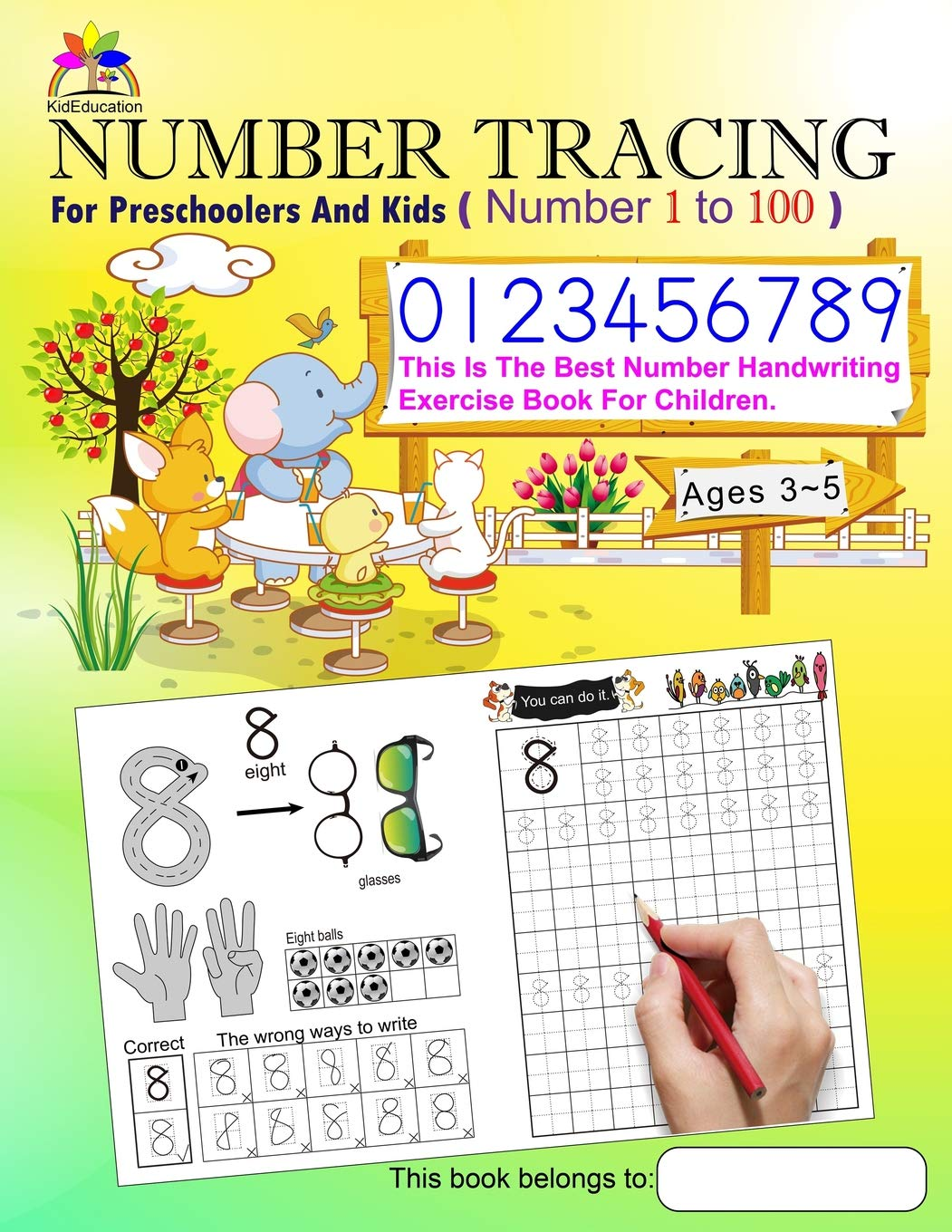 Number Tracing Book For Preschoolers And Kids Ages 3-5 Number 1 to