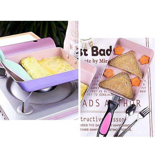 Meisi antiadherente Tortilla Pan diseño ligero pero Tortilla Tortilla Pancake crepes Durable aluminio 13 x 18 cm: Amazon.es: Hogar