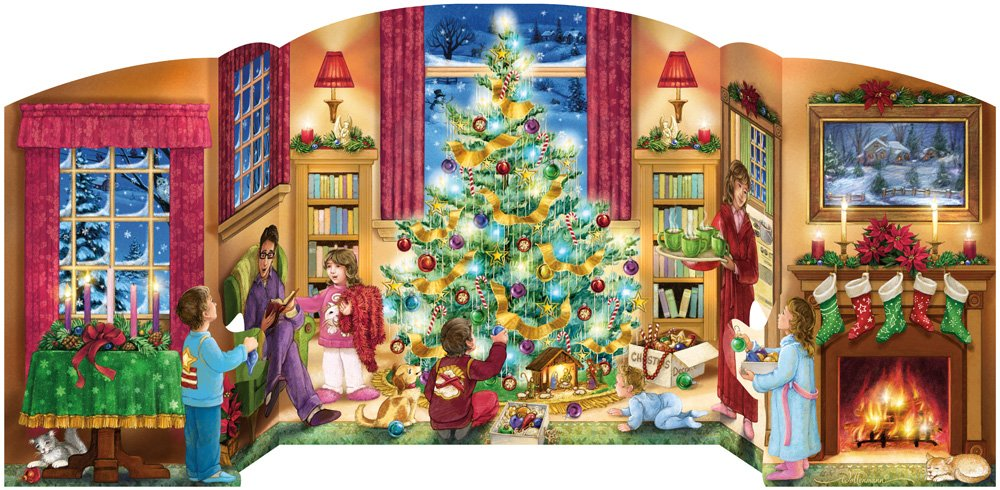 Holiday Home Free Standing Advent Calendar (Countdown to Christmas) Vermont Christmas Company BB903