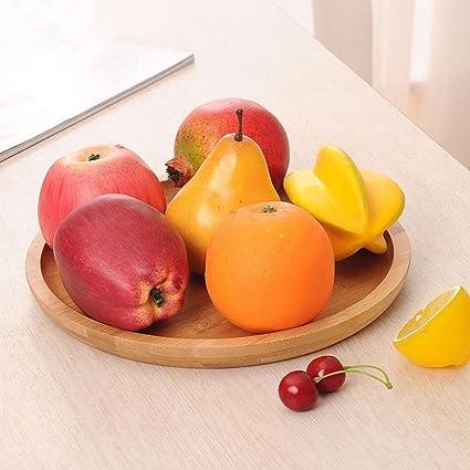 Plato de fruta plato de aperitivo bandeja de fruta seca bandeja redonda creativa bandeja de té