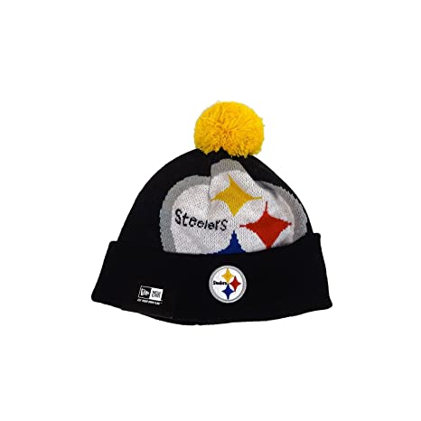 49fc1ab2e51 Image Unavailable. Image not available for. Color  NFL New Era Pittsburgh  Steelers Woven Biggie Knit Hat