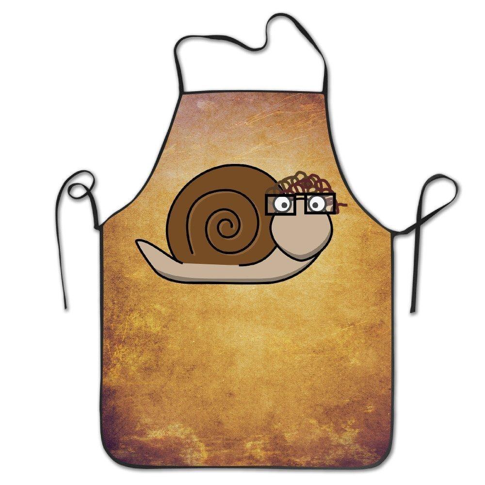 面白いエプロンシェフキッチン料理エプロンよだれかけBaked Snails Grilling快適   B07DCPPF1C