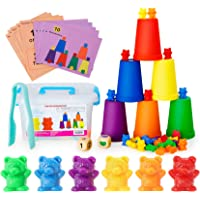 Neoformers Counting Bears with Matching and Sorting Cups, Preschool Math Learning and Color Recognition Games, STEM…